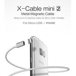 WSKEN XCable - Câble Magnétique de Recharge - iPhone / iPad/ iPod / tous appareils avec connectique Lightning - Couleur Argent
