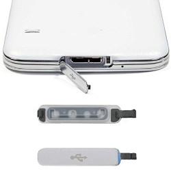 Couvercle USB pour Samsung Galaxy S5, Amison Bouchon anti-poussière, Pièce de remplacement, Usb Port Cover Argent