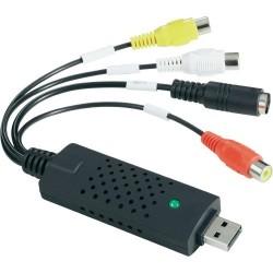 EasyCAP Clé d'acquisition vidéo-audio Carte USB 2.0 PAL et SECAM (aussi pour Win 8) avec Suite ShowBiz 3.5