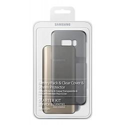 Samsung EB-WG95EBBEGWW Pack pour Galaxy S8+ avec Coque Transparente + Batterie Externe 5.2A Charge Rapide + Film de Protection
