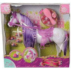 Simba 104661840 Steffi Love conte de fées Princesse cheval, cheveux pourpre