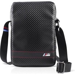 BMW BMCBTBD5BL Black Stripe 9-10 pouces Carbon Bandoulière Tablet Pc Bag