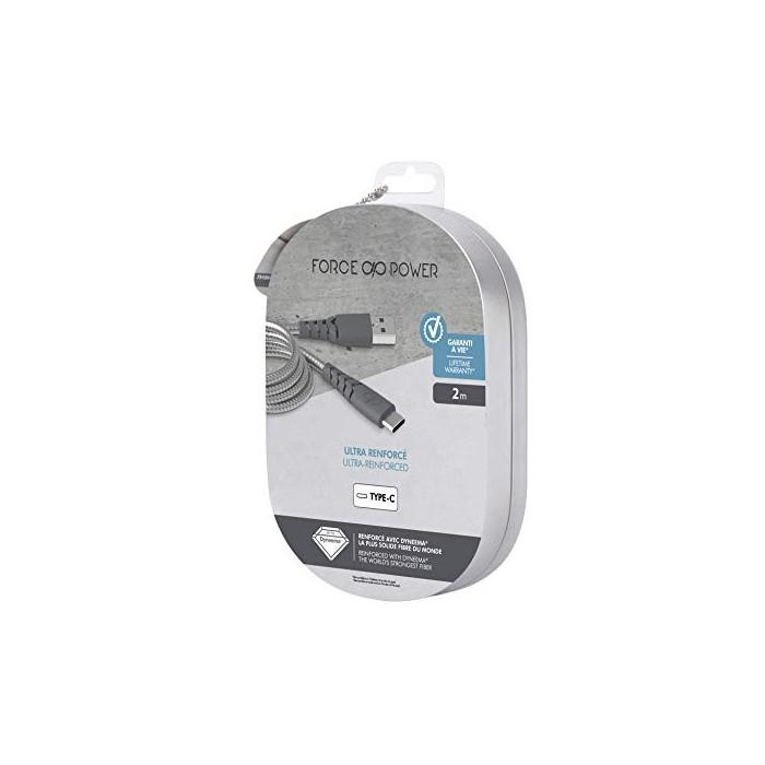 Bigben Connected Câble de Charge/Synchronisation renforcé USB/USB-C 2 M