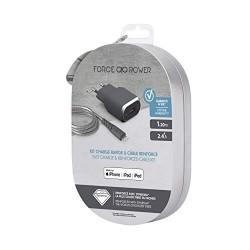 Bigben Connected Kit de Chargeur Secteur/Câble renforcé USB