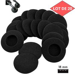 20 X mousses ecouteurs 18 mm